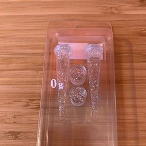 Clear Glitter gauges with tapers